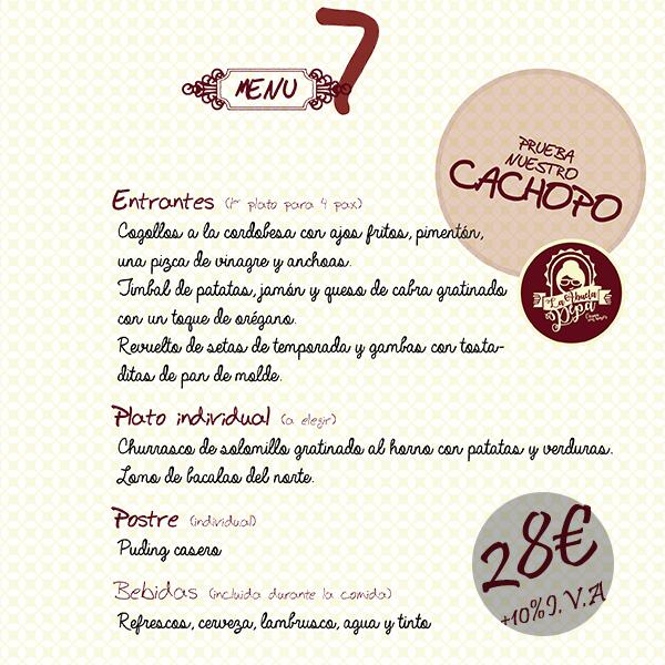 Menú La Abuela Pepa #7